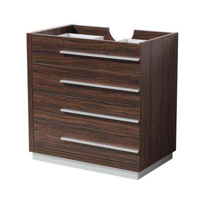 Livello 30 in. Bathroom Vanity Cabinet Only in Walnut