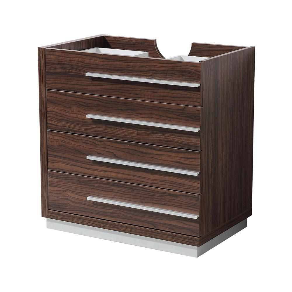 Fresca livello 30 in bathroom vanity cabinet only in walnut fcb8030gw the home depot for 30 bathroom vanity cabinet