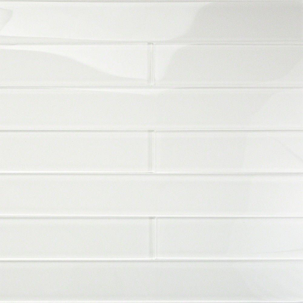 Splashback tile contempo vista bright white polished glass White subway tile