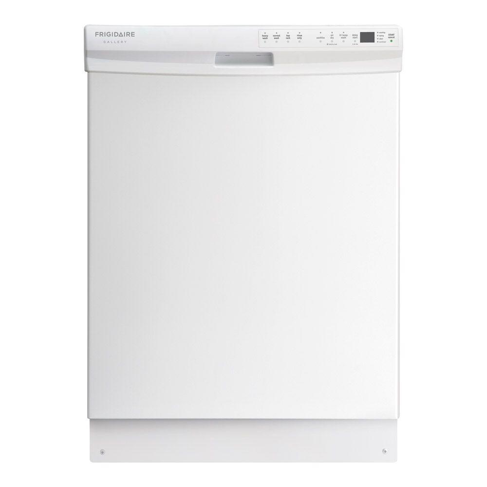Frigidaire Gallery Front Control Dishwasher in White