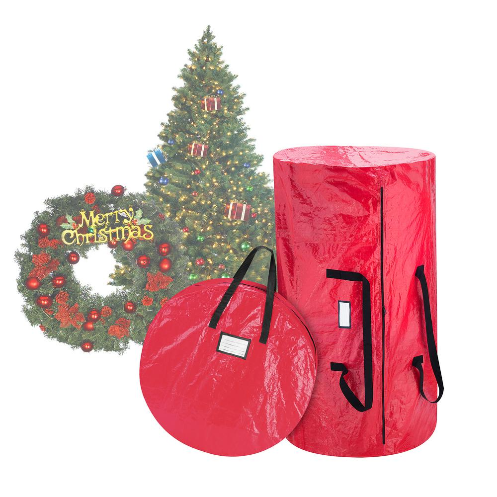 elf stor red extra large artificial tree and wreath storage bag for trees up to