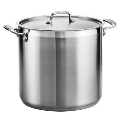 Gourmet 20 Qt. Stainless Steel Stock Pot with Lid