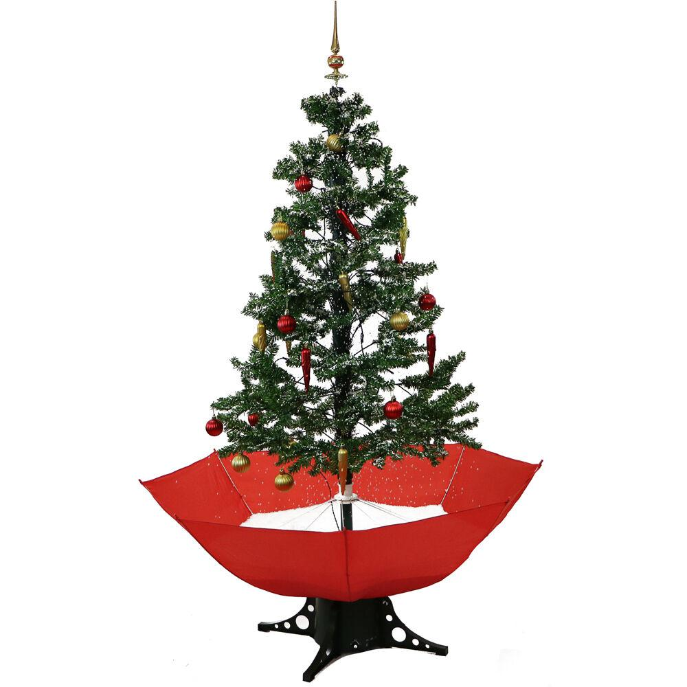 Snowing And Musical Christmas Tree: Fraser Hill Farm 67 In. Christmas Musical Tree With Red