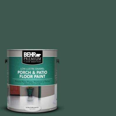 1 gal. #PFC-45 Patio Green Low-Lustre Interior/Exterior Porch and Patio Floor Paint