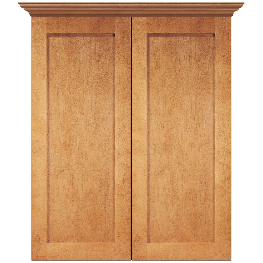 MasterBath Elite Shaker 24 in. W Bath Storage Cabinet in Cinnamon