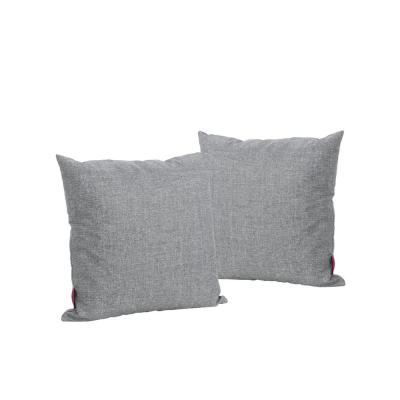 Coronado Grey Solid Square Outdoor Throw Pillow (2-Pack)