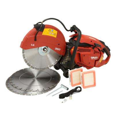 DSH 700-X 70 cc 14 in. Hand Held Gas Saw with 3 Premium 14 in. Diamond Blades