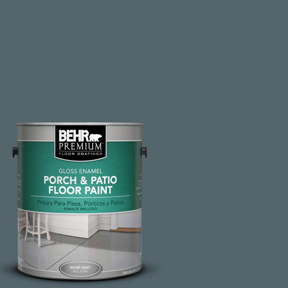 1 gal. #N470-6 Whale Gray Gloss Porch and Patio Floor Paint