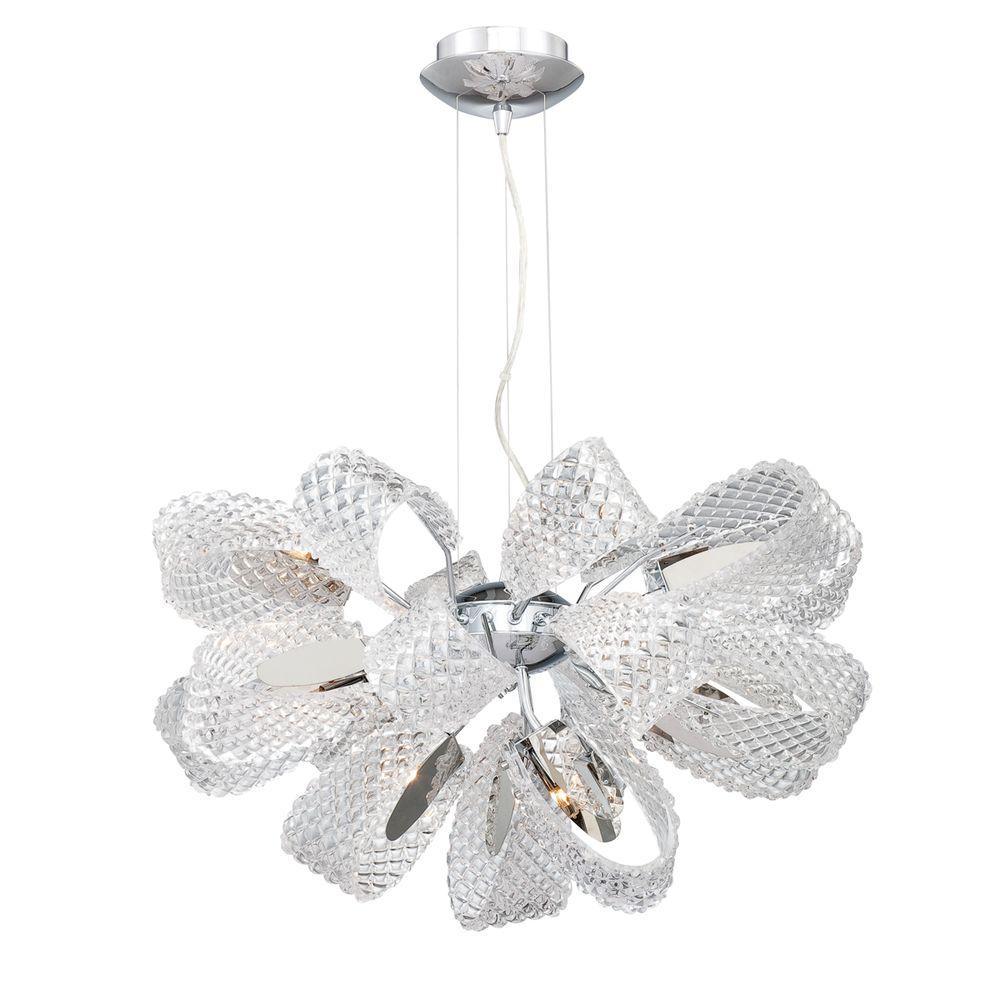 Eurofase Origami Collection 11-Light Chrome Chandelier