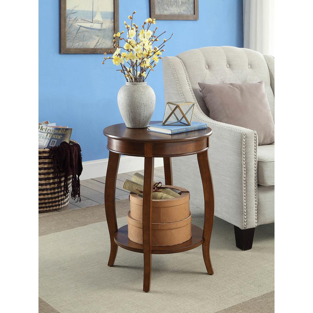 Aberta Walnut Storage Side Table