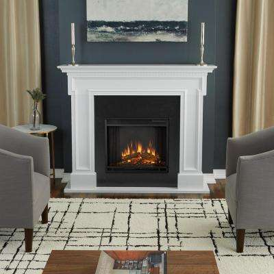 Awesome Thayer 54 In. Electric Fireplace In White