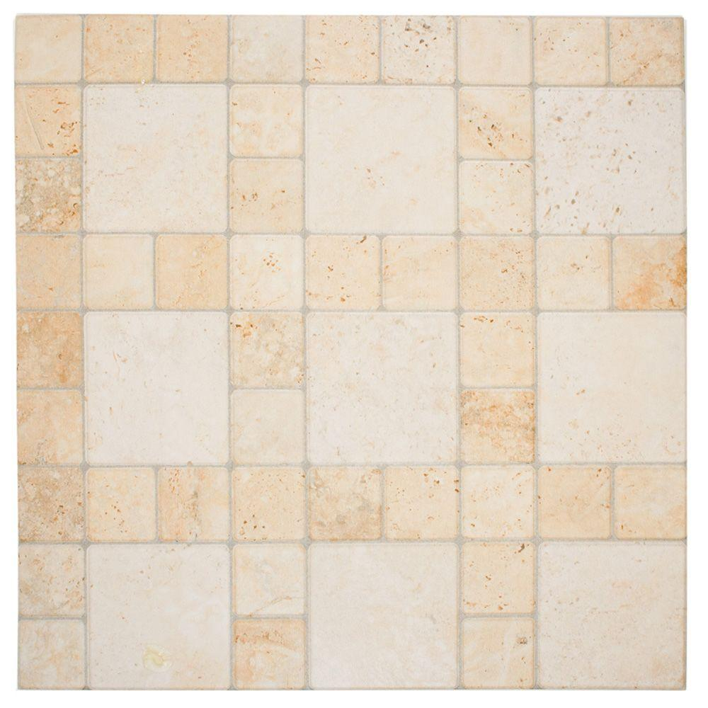 Atlas Por Marfil 12-1/4 in. x 12-1/4 in. Porcelain Floor and