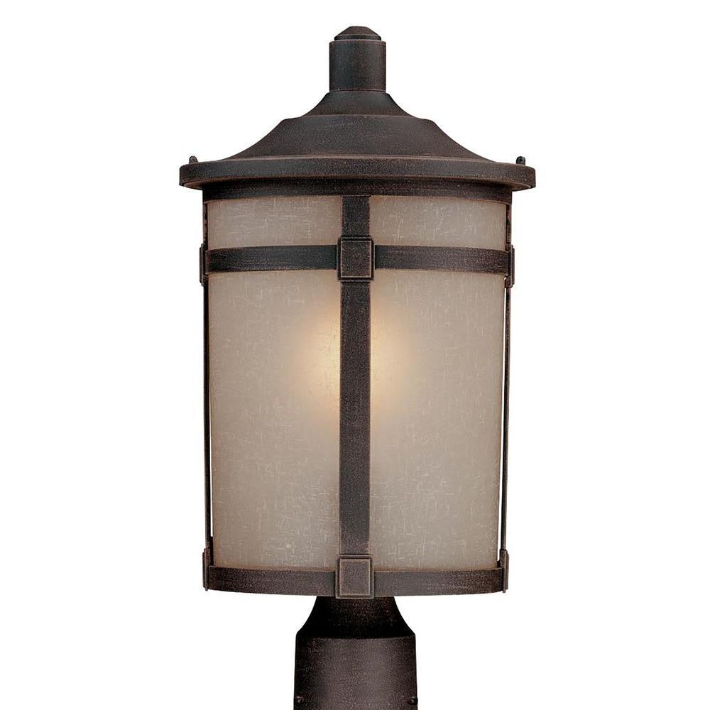 Beyer 1-Light Dark Bronze Outdoor Post Light