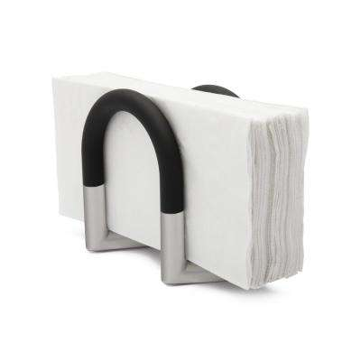 Swivel Black/ Nickel Napkin Holder