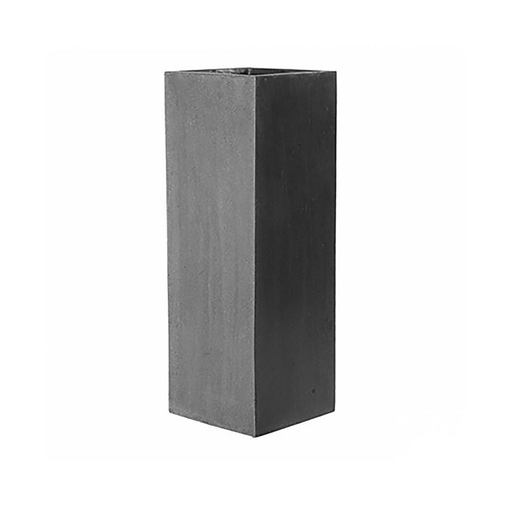 Matte gray fiberstone large square stand planter