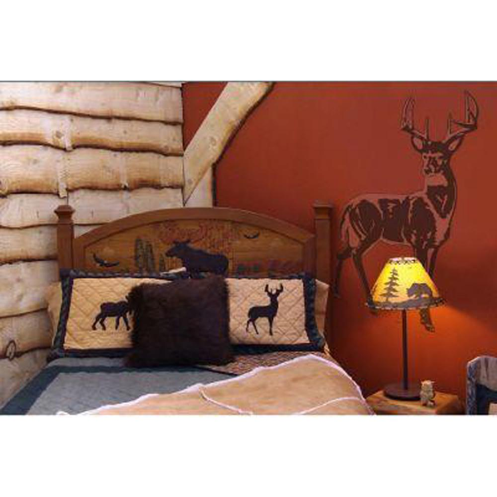 Sudden Shadows 42 in. x 32 in. Deer Wall Decal