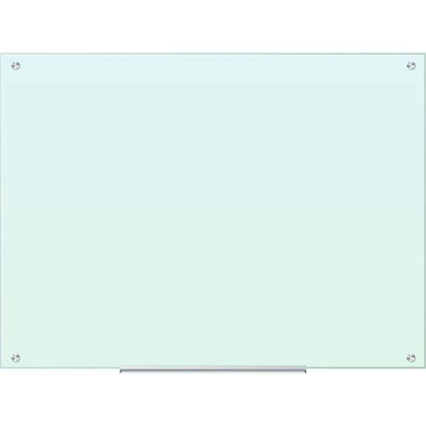 47 in. x 35 in. White Frosted Surface Frameless Glass Dry Erase Board