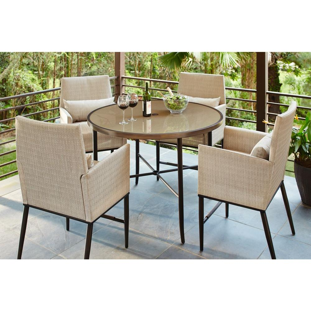 Hampton Bay Aria 5 Piece Patio High Dining Set Fcs80223st