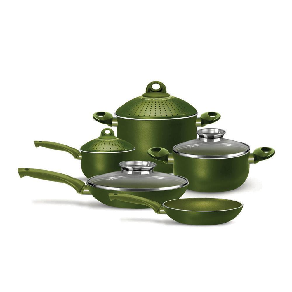 Terre di Siena 9-Piece Assorted Cookware Set