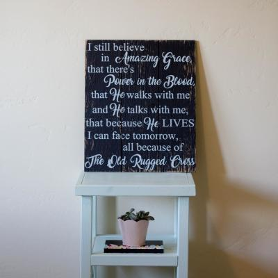 "16 in. x 19 in. ""I Still Believe In Amazing Grace"" by Boulder Innovations, Printed Wood Wall Art"