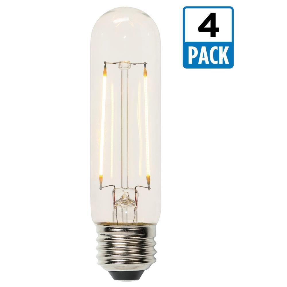 westinghouse 60w equivalent soft white t10 dimmable filament led light bulb 4 pack 0518520. Black Bedroom Furniture Sets. Home Design Ideas