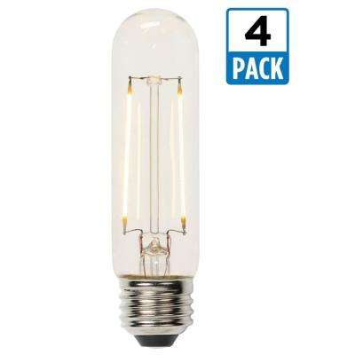 60W Equivalent Soft White T10 Dimmable Filament LED Light Bulb (4-Pack)