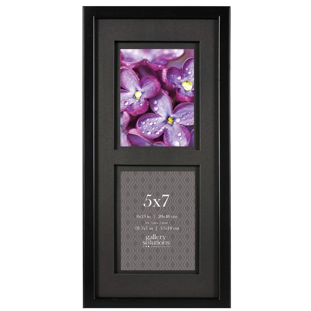 Pinnacle 2 Opening 5 In X 7 In Matted Picture Frame 14fw1341e