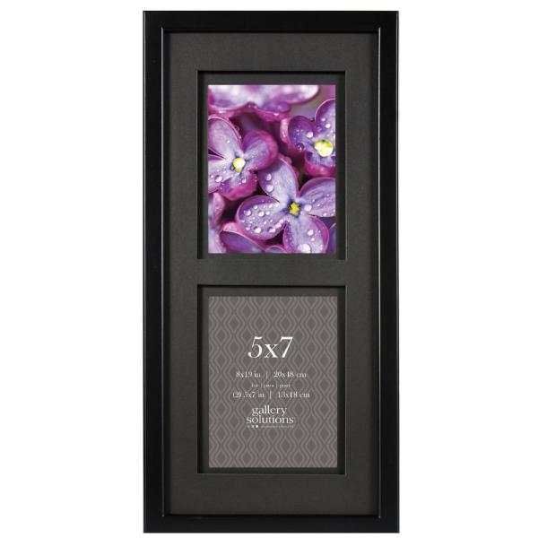2-Opening 5 in. x 7 in. Matted Picture Frame