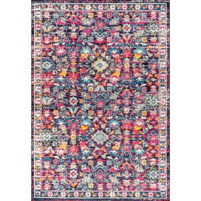 Modern Persian Boho Floral Multi/Purple 8 ft. x 10 ft. Area Rug