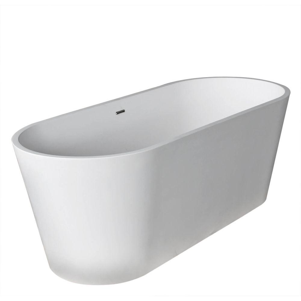 Universal Tubs Heart Stone 5.6 ft. Artificial Stone Center Drain ...