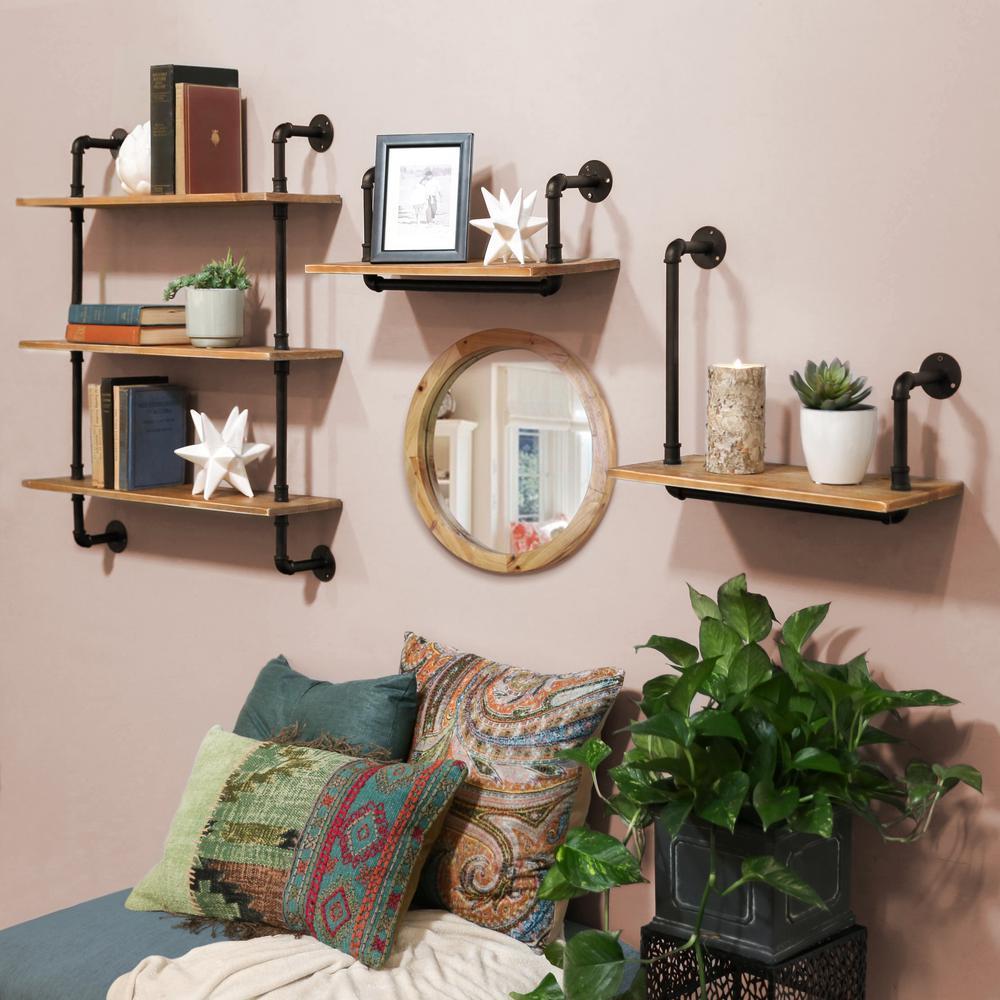 17.75 in. x 15.75 in. 1 Wood Wall Shelf