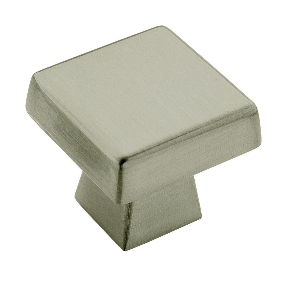 Blackrock 1-1/2 in. Satin Nickel Square Cabinet Knob