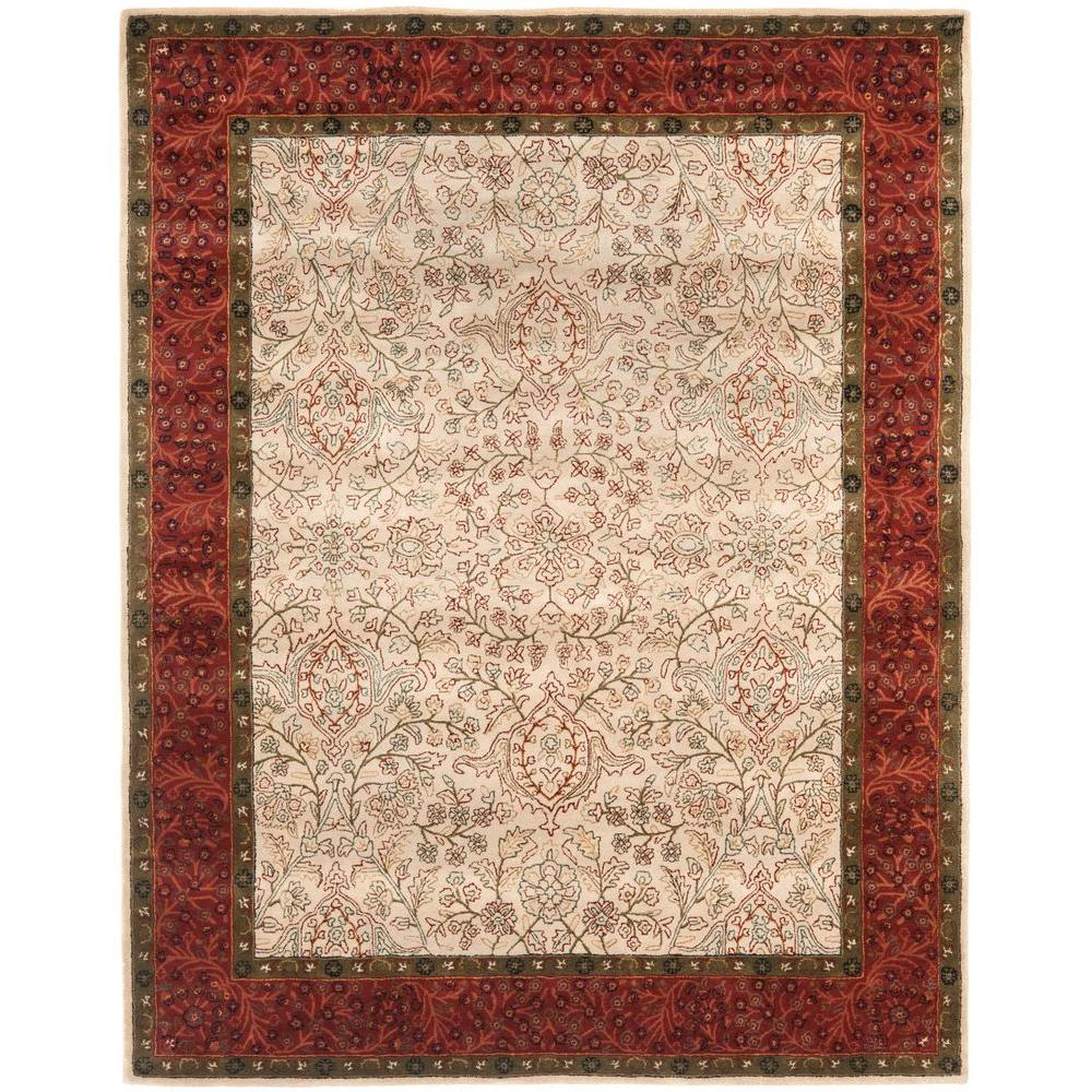 Safavieh Pl537a Persian Legend Wool Hand Tufted Rust Navy: Safavieh Persian Legend Ivory/Rust 6 Ft. X 9 Ft. Area Rug