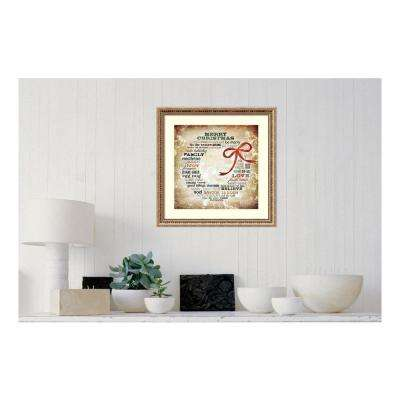 23 in. W x 23 in. H 'Christmas Wreath Subway Art' by Sally Barlow Framed Print Wall Art