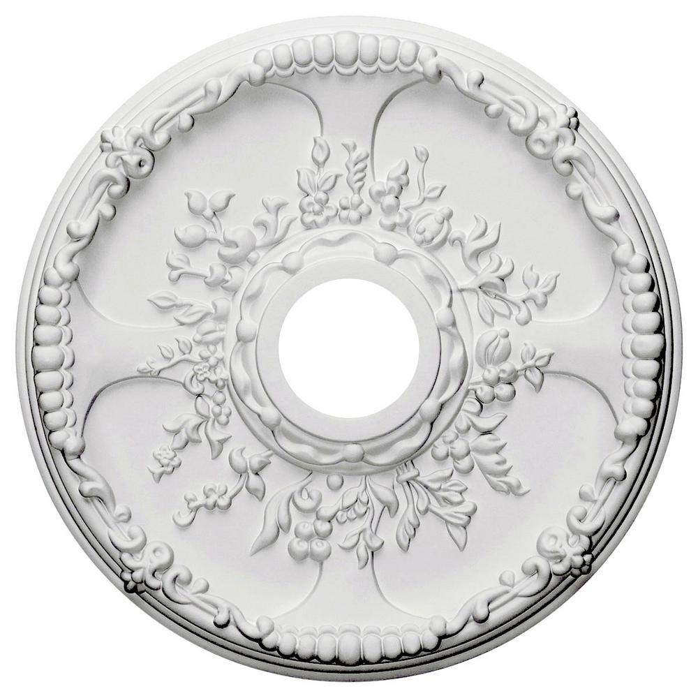 Ekena Millwork 1-3/8 in. x 18 in. x 18 in. Polyurethane Antioch Ceiling Medallion Moulding