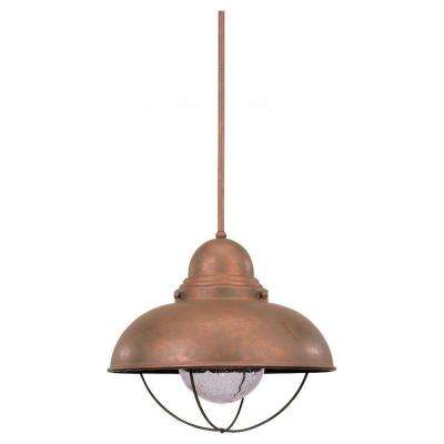 Sebring 1-Light Weathered Copper Outdoor Pendant