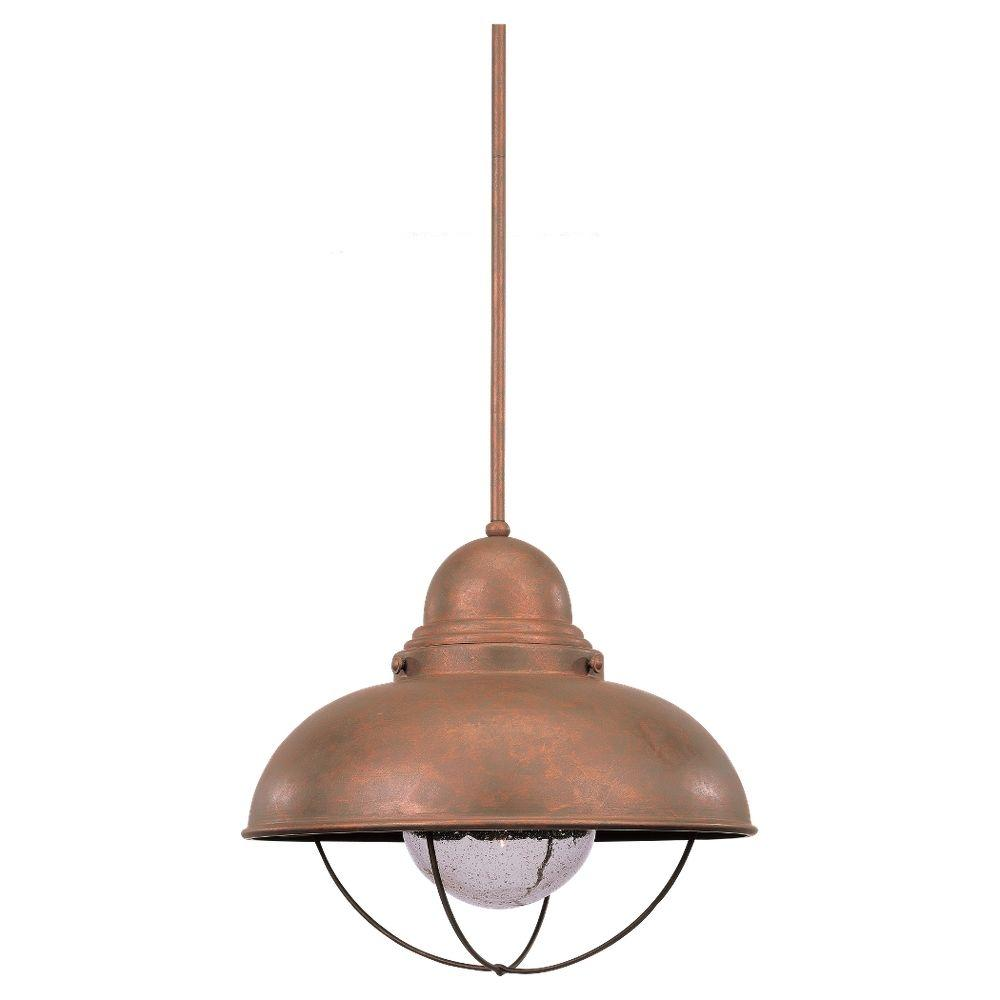 Sea Gull Lighting Sebring 1-Light Weathered Copper Outdoor Pendant