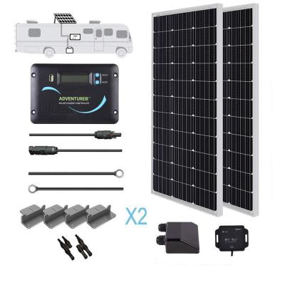 200-Watt 12-Volt Monocrystalline Solar RV Kit