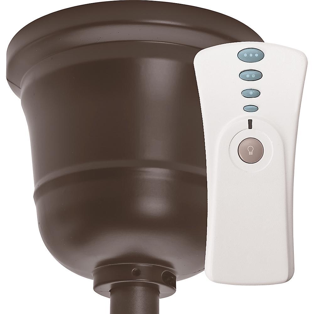 Hunter Original Indoor/Outdoor Chestnut Brown Canopy and Universal Handheld Remote Control