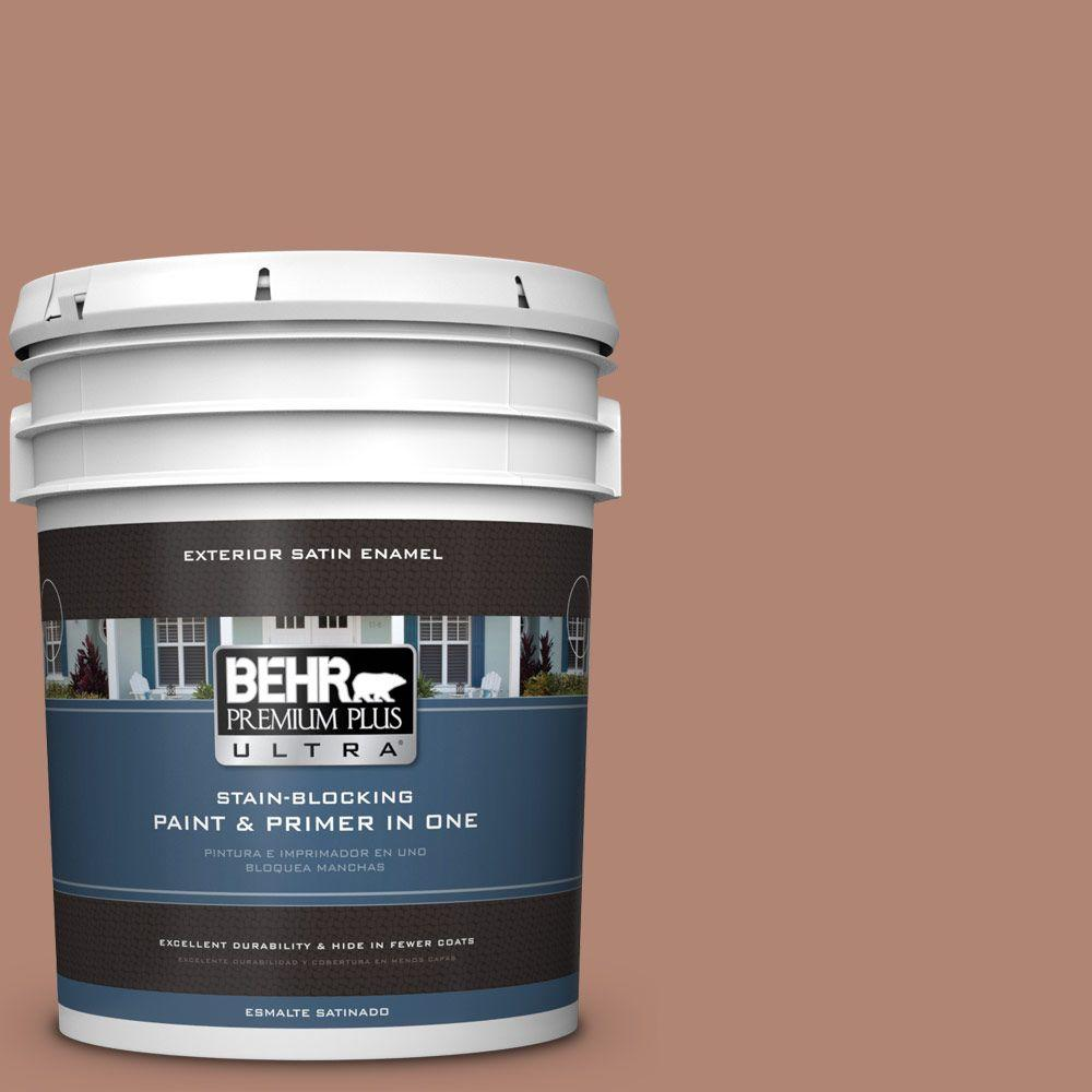 5-gal. #220F-5 Light Mocha Satin Enamel Exterior Paint