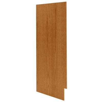 0.1875x34.5x23.25 in. Matching Base Cabinet End Panel in Medium Oak