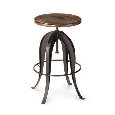 Sparrow Brown Round Bar Stool