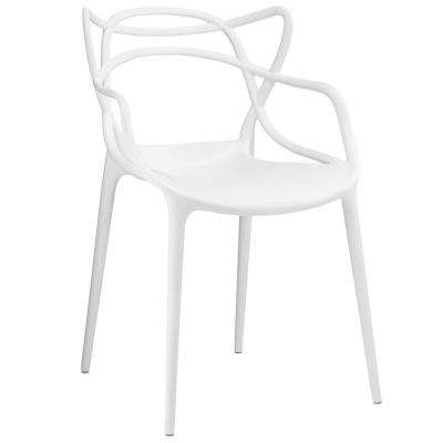 Entangled White Dining Arm Chair