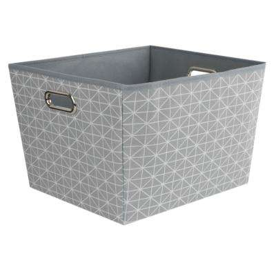 13 in. x 10 in. Grey Diamond Collection Bin