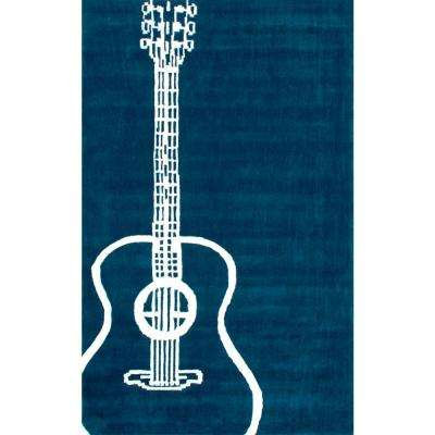 Acoustic Teal 5 ft. x 8 ft. Area Rug