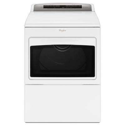 7.4 cu. ft. 120 Volt White Gas Vented Dryer with AccuDry and Intuitive Touch Controls
