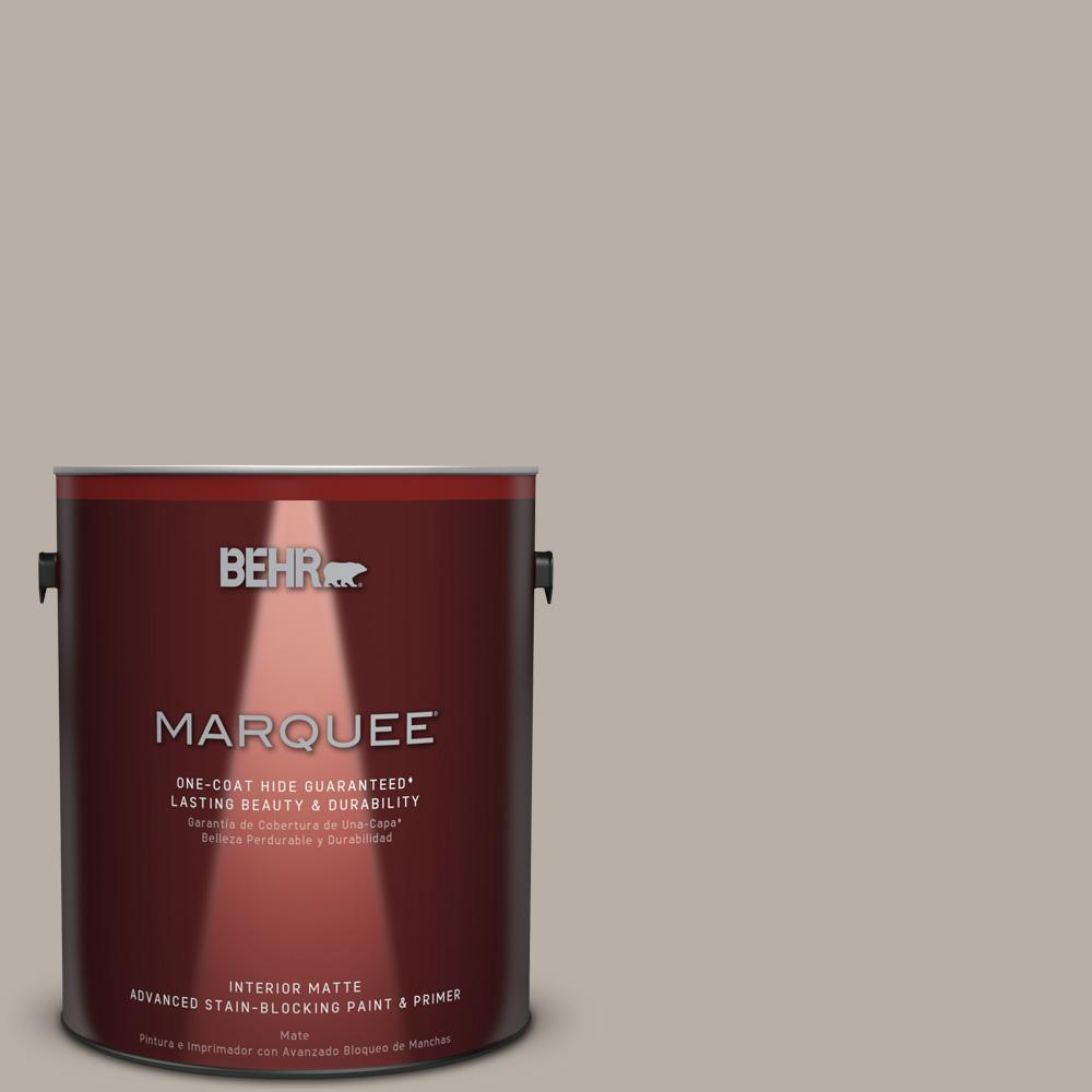 BEHR MARQUEE 1 Gal. #T18 08 Off The Grid Matte Interior Paint