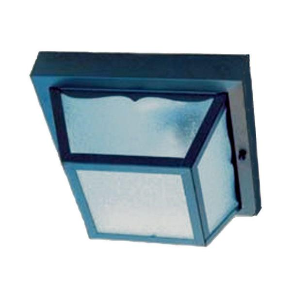 Builder's Choice Collection Ceiling-Mount 1-Light Matte Black Outdoor Light Fixture