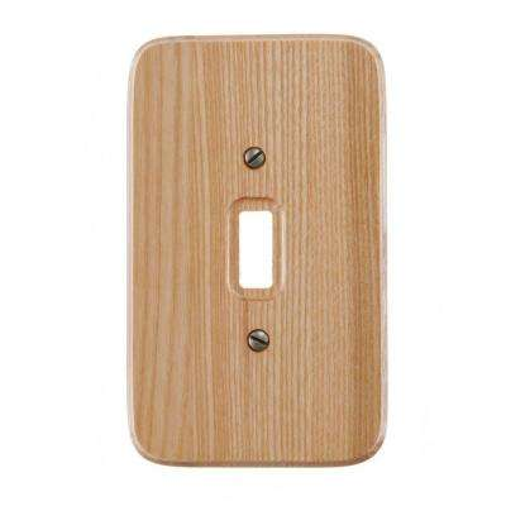 1 Toggle Wall Plate - Natural Oak