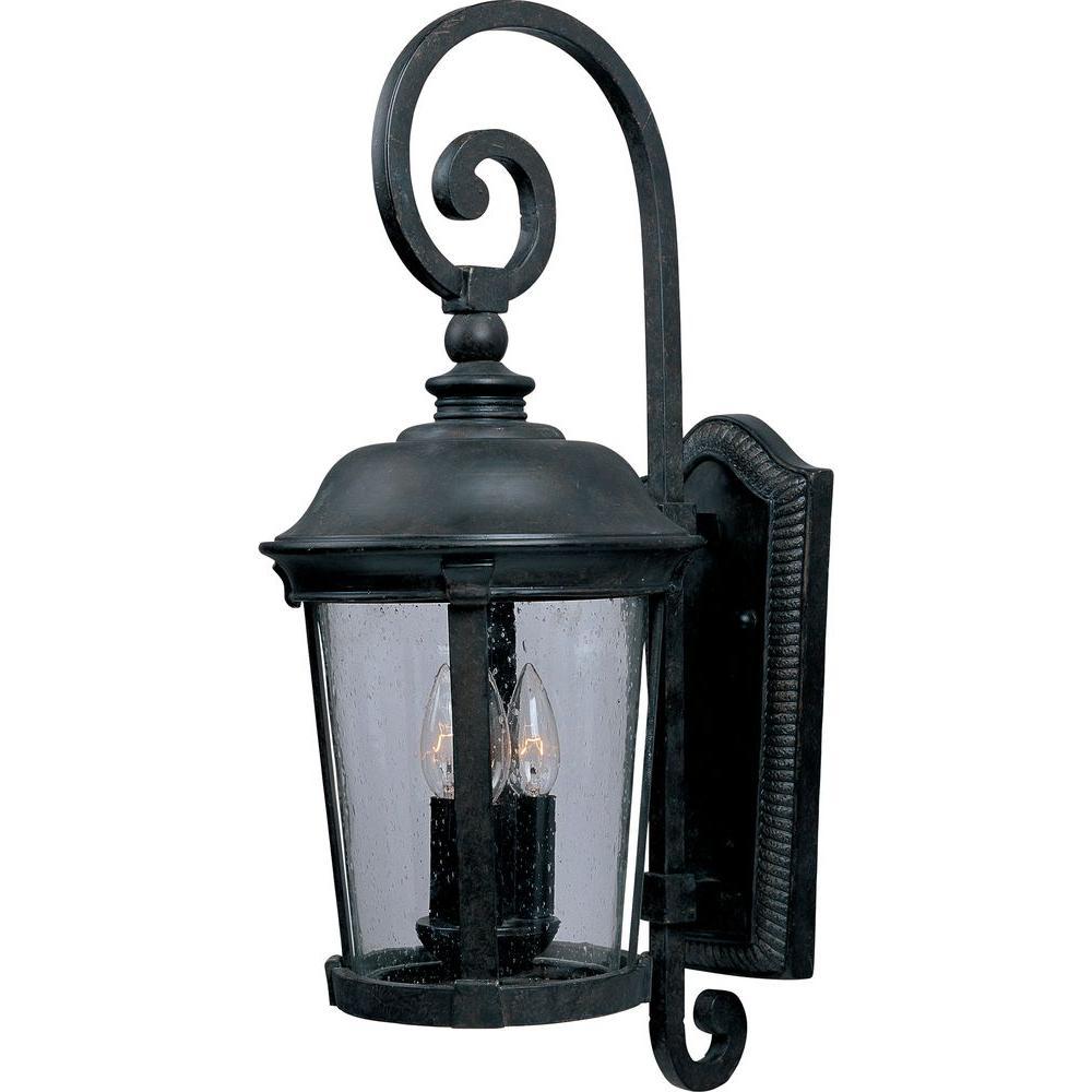 Dover VX 3-Light Bronze Outdoor Wall Lantern Sconce